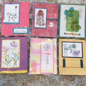 6 Handmade occasion cards birthday celebration